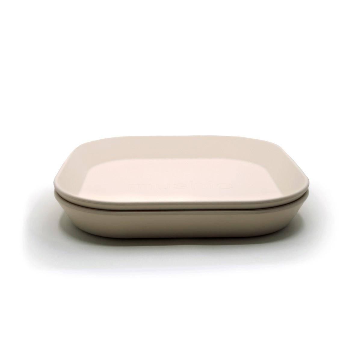 Tallerken 2pk - Mushie - Ivory