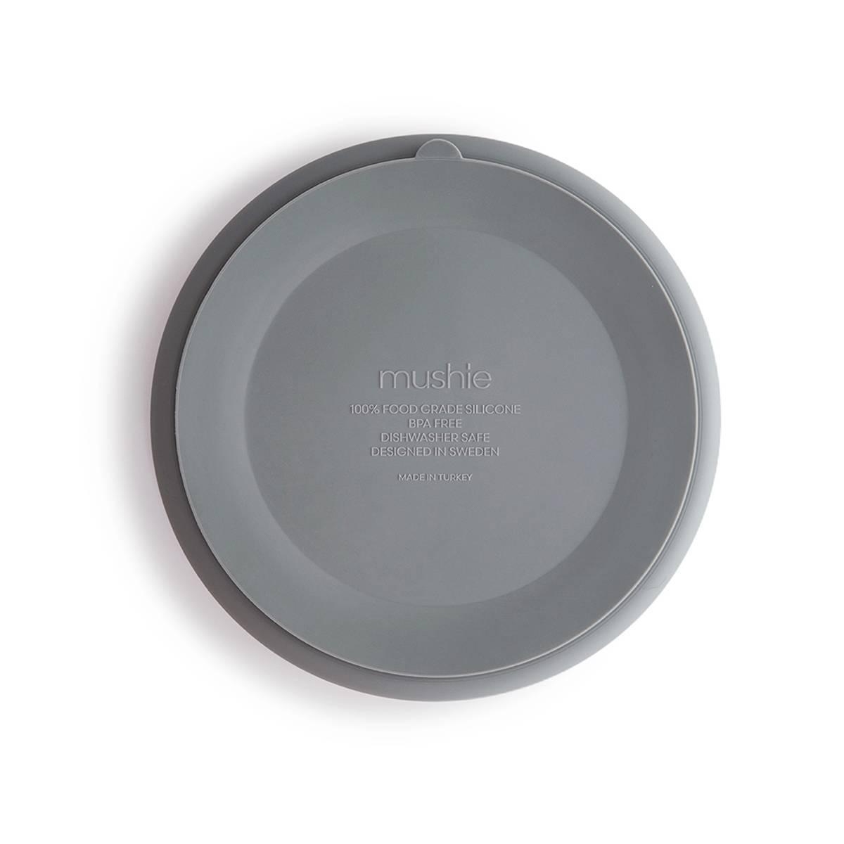 Tallerken - Silikon med Sugefunksjon - Mushie - Cloud